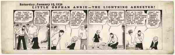 87: Gray Little Orphan Annie 1/15/38 original comic art