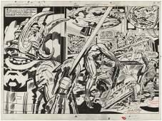 222: Kirby Black Panther #1 splash original comic art