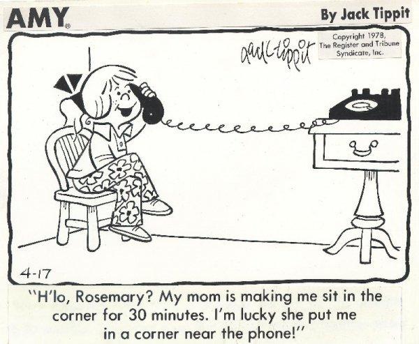 7: Tippit 8 items Amy dailies & misc original comic art