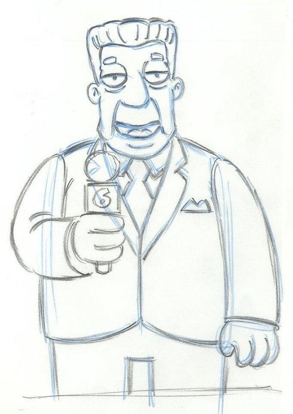 18: The Simpsons 10 drawings original comic art