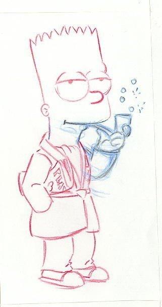 19: The Simpsons 6 drawings original comic art
