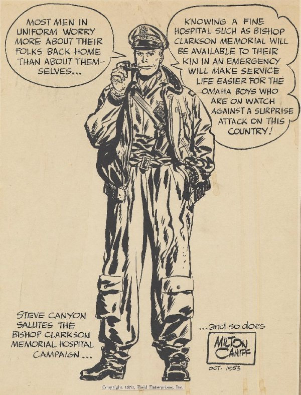 21: Caniff Steve Canyon specialty piece 1953