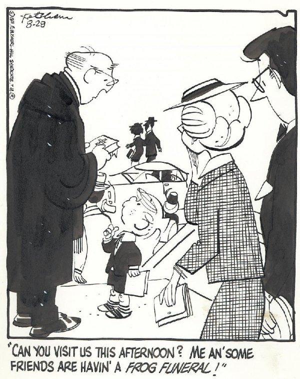 23: Ketcham Dennis the Menace 8/71 original comic art