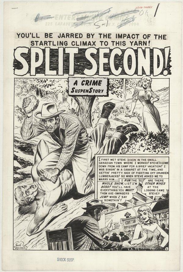 166: Kamen Shock #4 8p Split Second original comic art