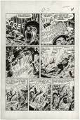 164: Heath Frontline Combat #1 page original comic art