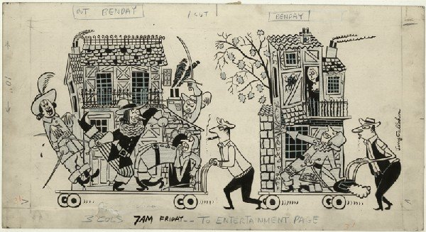 2: Callahan cartoon c1950 original comic art