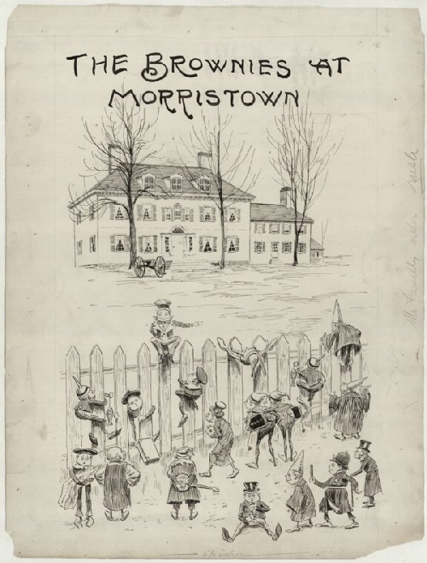 7: Cox Brownies Morristown Sun c1900 original comic art