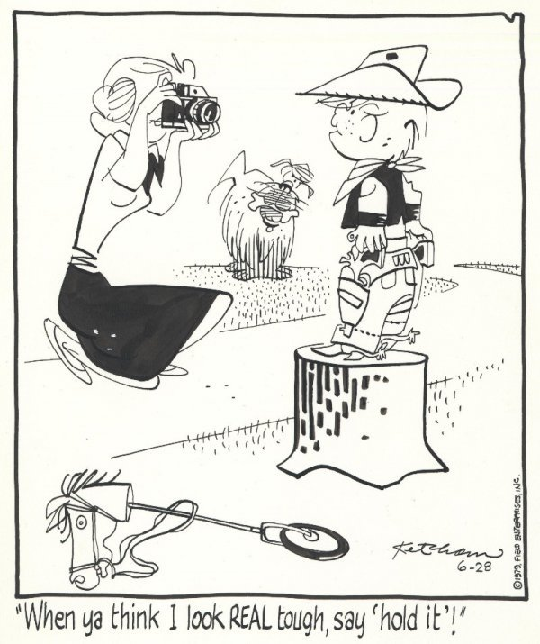 11: Ketcham Dennis the Menace 6/79 original comic art