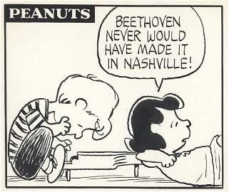 59: Schulz Peanuts daily 7/22/70 original comic art