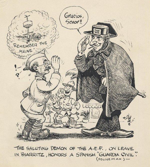 3: Wallgren political cartoon 1935 original art