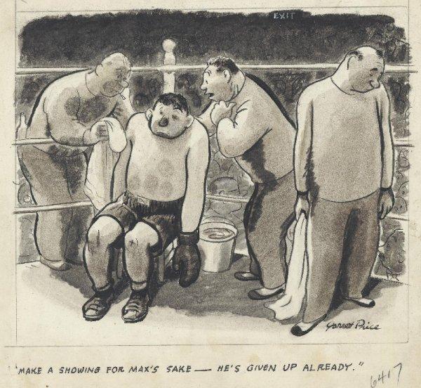 8: Price gag panel cartoon date unknown original art