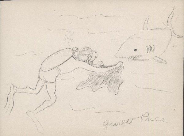 9: Price gag panel cartoon The New Yorker original art