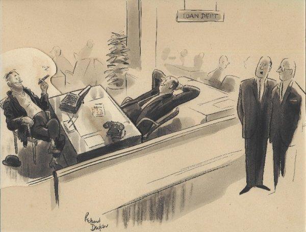 10: Decker gag cartoon New Yorker 6/10/61 original art