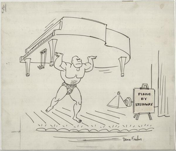12: Fradon gag panel cartoon New Yorker original art