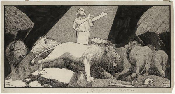 15: McCay Daniel in the Lions' Den original art