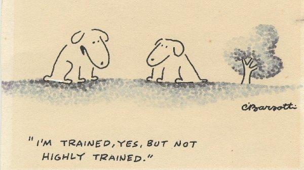 16: Barsotti 3 gag cartoons New Yorker original art