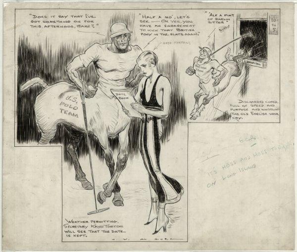 18: McGurk sports cartoon New York Journal original art
