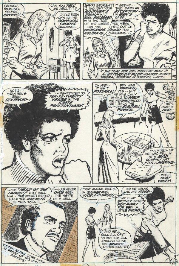 121: Mortimer Night Nurse #3 page 5 1973 original art