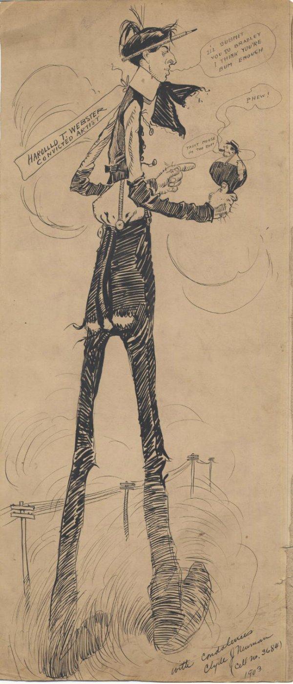 1: Neuman cartoon HT Webster 1903 original comic art