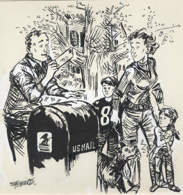 7: Hamilton advertising illustration original comic art