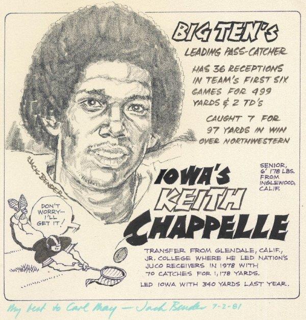 8: Bender sports cartoon c1980 original comic art