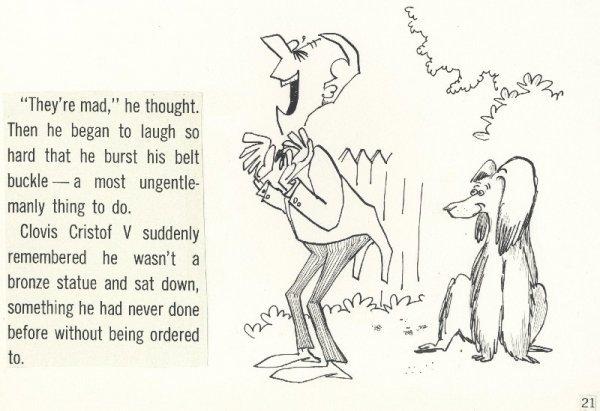11: Aragones Harry Smiling Dog 1966 original comic art