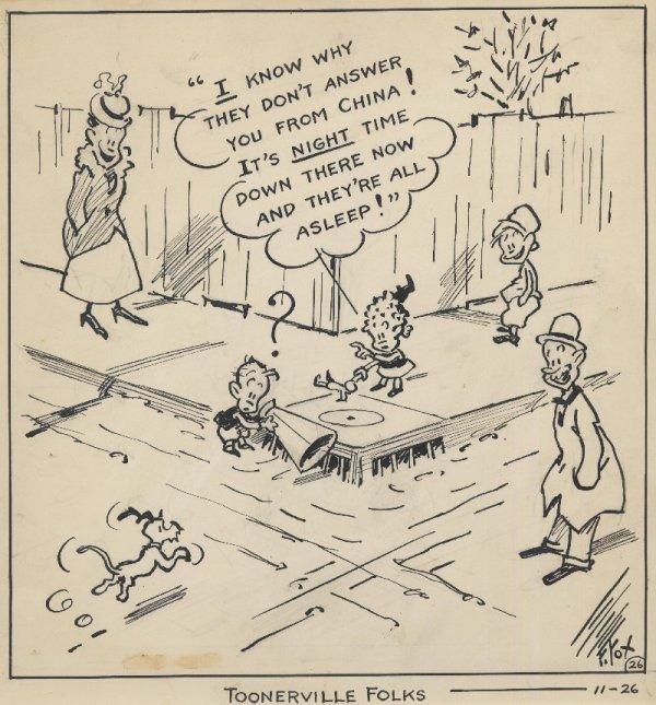 12: Fox Toonerville Folks daily original comic art