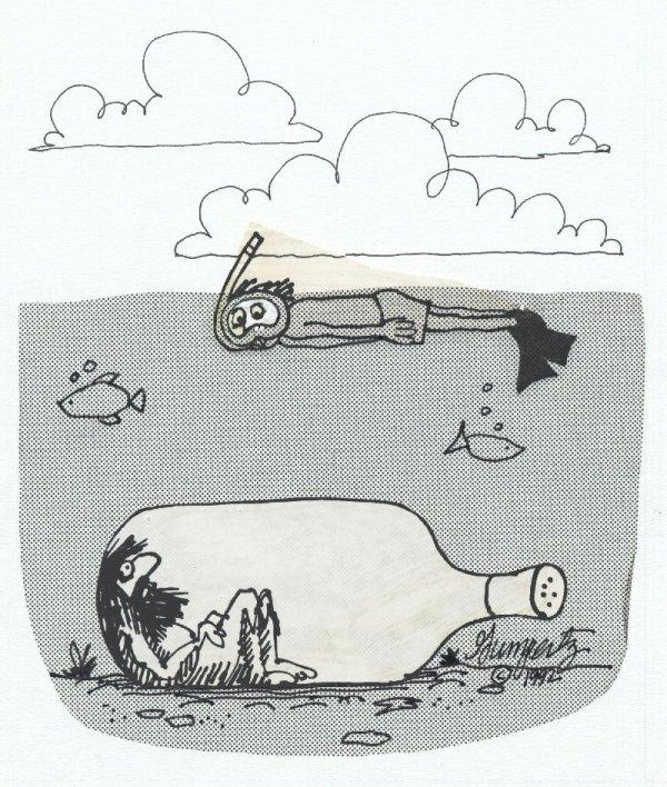 15: Gumpertz cartoon SF Chronicle original comic art