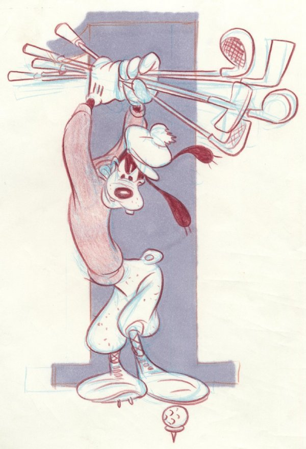 17: Jippes Sport Goofy c1980 original comic art