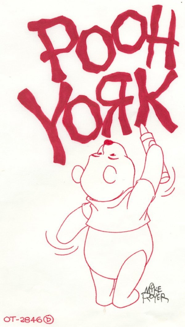 18: Royer Winnie the Pooh c1990 original comic art