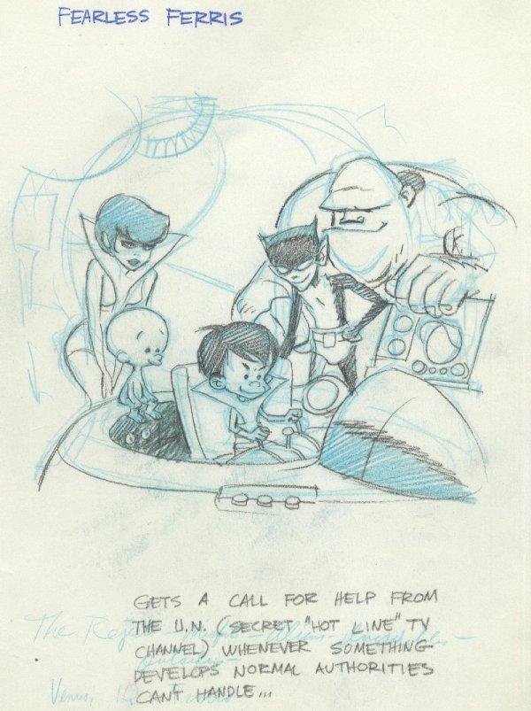 21: Wood Ferris and Misfits c1970 original comic art