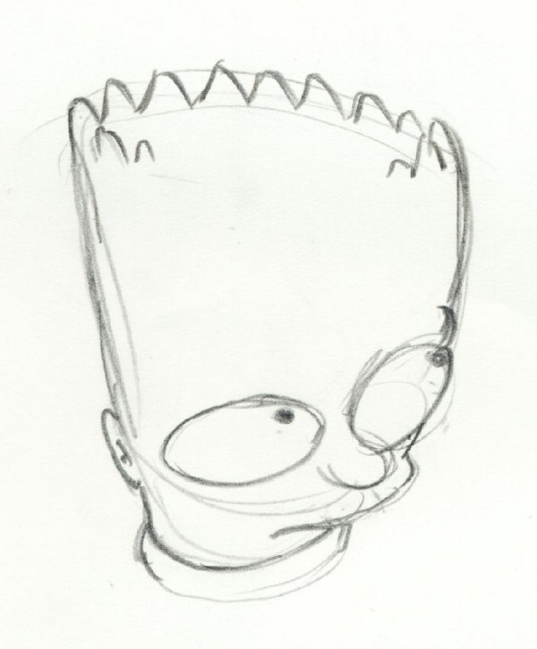 22: The Simpsons 3 original animation drawings Bart