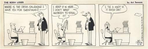 36: Sansom The Born Loser daily original comic art