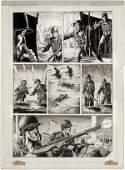 145: Mayerick Warren war story pg original comic art