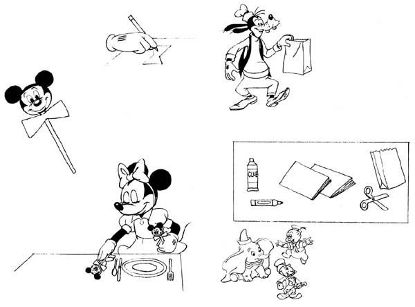 11: Disney drawings Mickey Mouse Birthday Book - 2