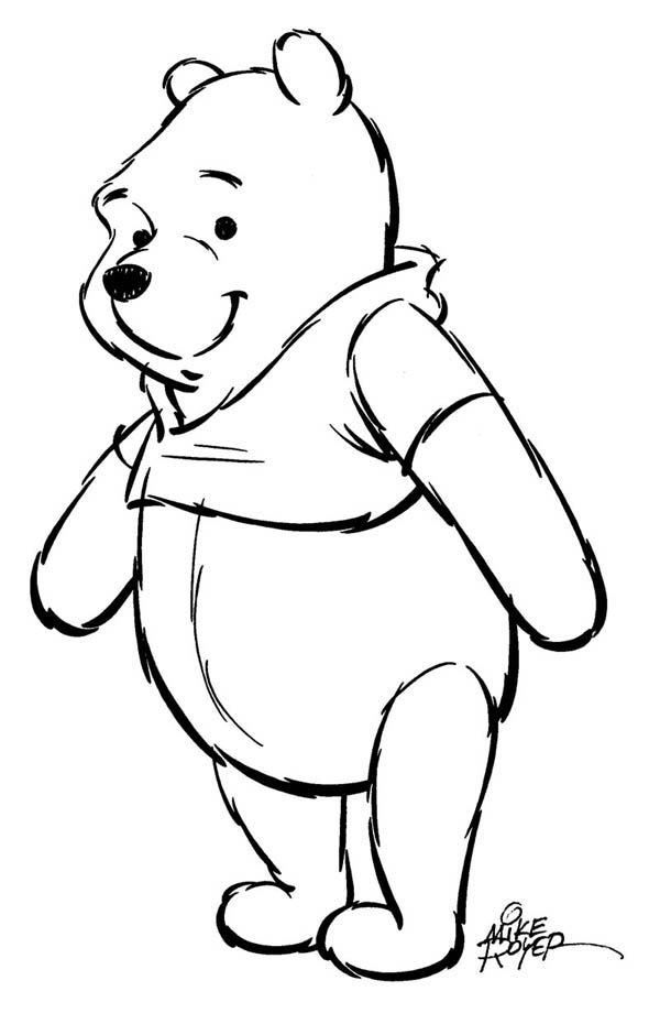 14: Mike Royer Winnie the Pooh drawing