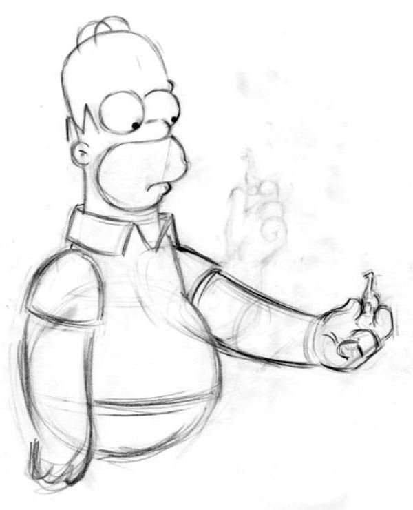 16: The Simpsons 7 animation drawings of Homer