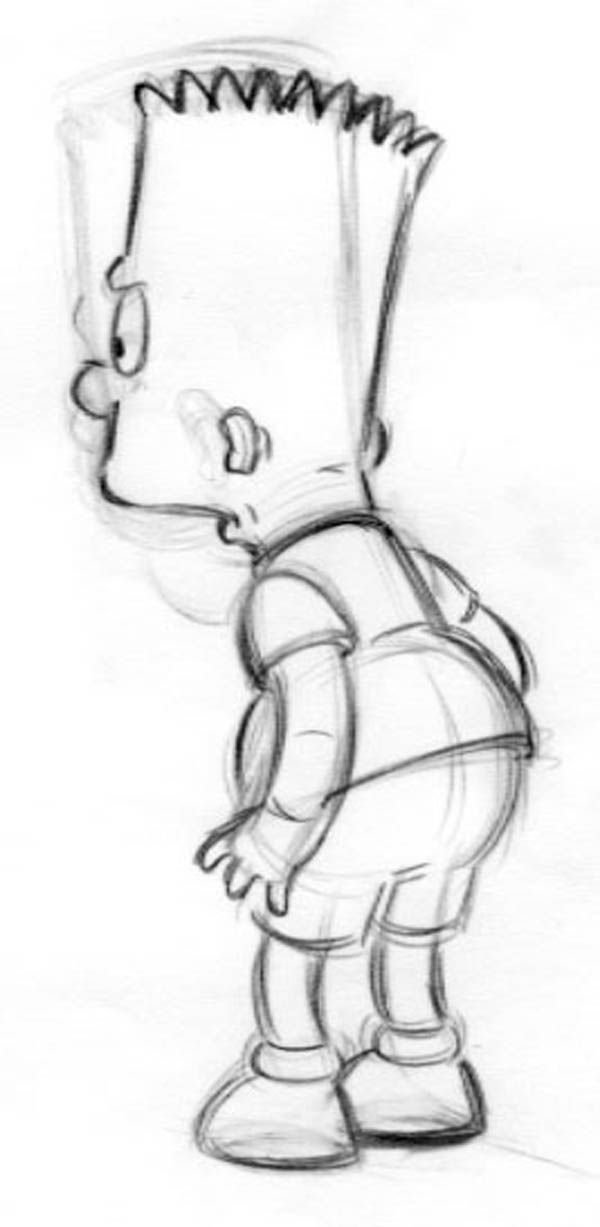 18: The Simpsons 3 animation drawings of Bart