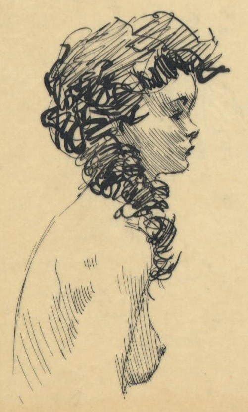 305: Frank Frazetta 9 ink sketches on one sheet 1950s - 6