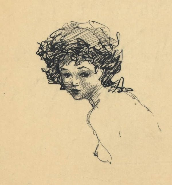 305: Frank Frazetta 9 ink sketches on one sheet 1950s - 7