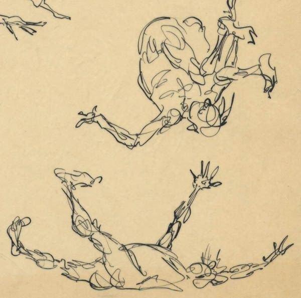 305: Frank Frazetta 9 ink sketches on one sheet 1950s - 8