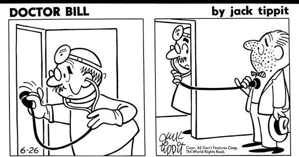 7: Jack Tippit  3 Doctor Bill dailies 1962