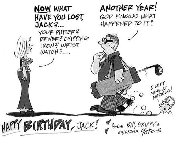 11: Bill Yates watercolor birthday greeting