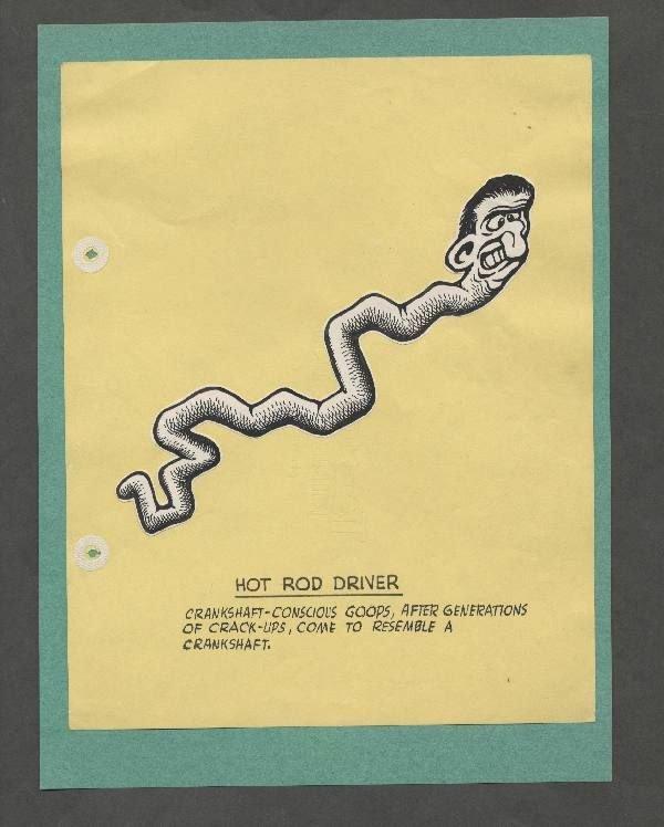 16: Basil Wolverton drawing of Hot Rod Driver