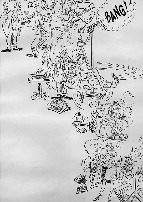 9: Al Scadujo single-page cartoon circa 1970 - 2