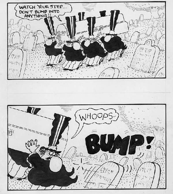 "20: Duck Edwing ""Bump"" cartoon 1980s"