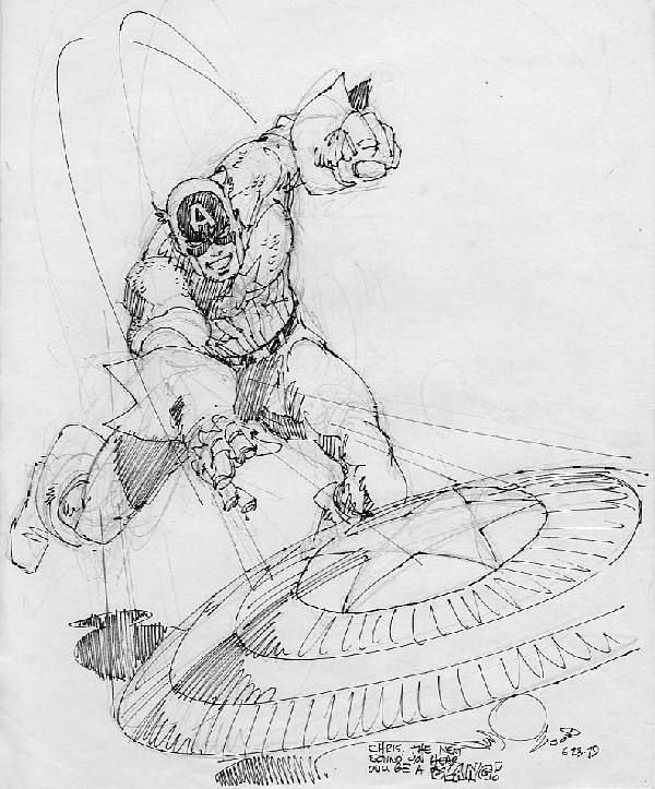 21: Walt Simonson Capt America illo 6/23/79