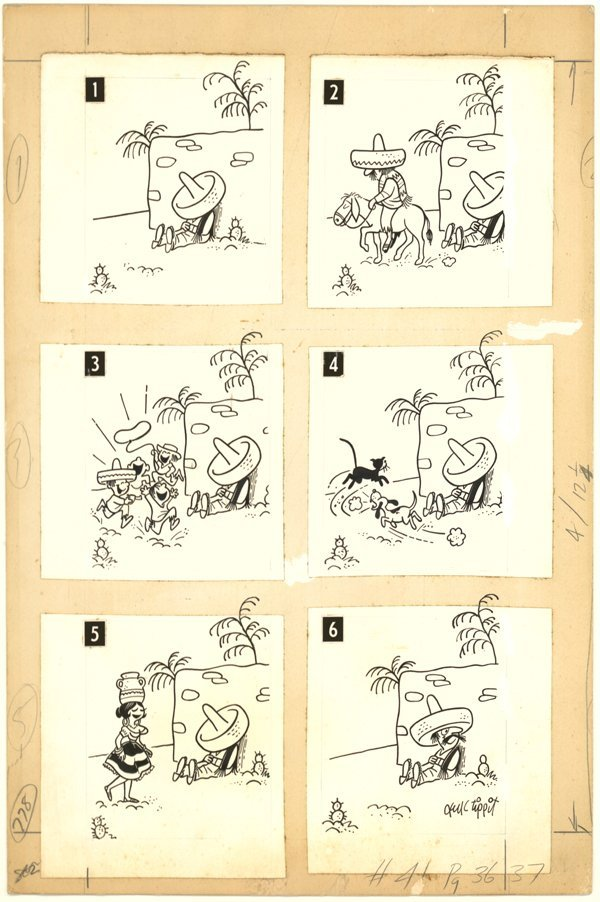 4: Jack Tippit pen and ink magazine cartoon original