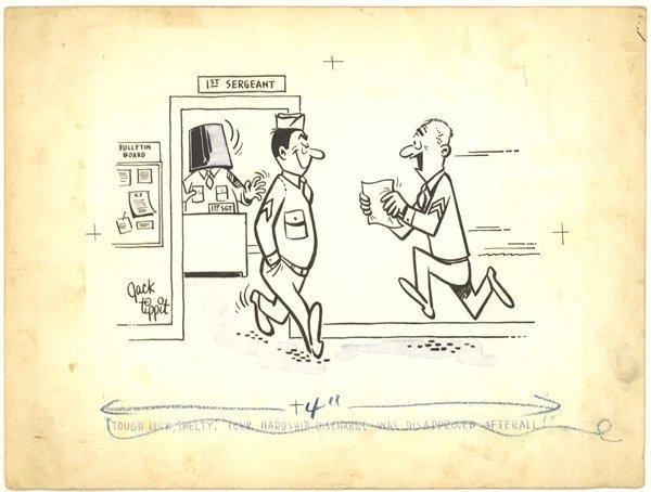 5: Jack Tippit pen and ink magazine cartoon original