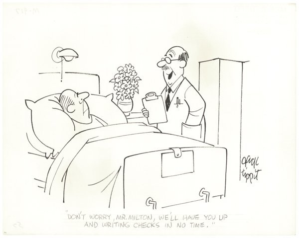12: Jack Tippit 31 pen and ink cartoons 1950 original